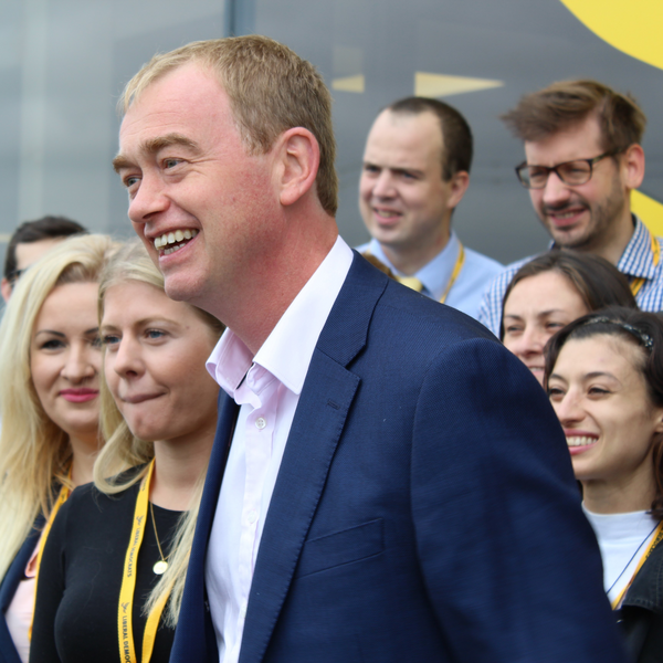 Tim Farron arriving at Autumn 2016 Conference (Liberal Democrats on Flickr)